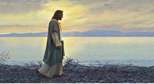 Oil-painting-male-portrait-Christ-font-b-Jesus-b-font-font-b-walking-b-font-by